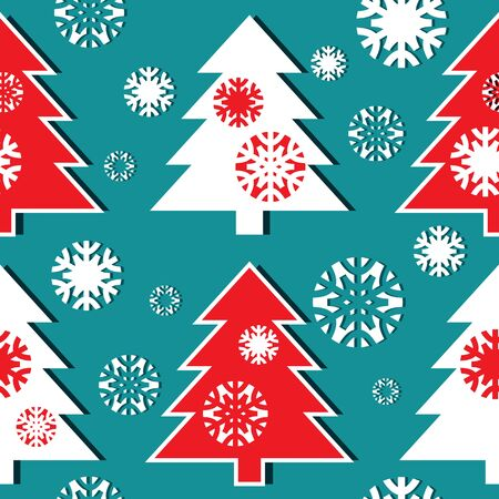 Christmas tree pattern Stock Vector - 16430468