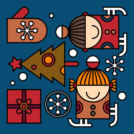 Christmas pattern. Vector illustration Vector