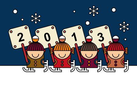 Happy New Year. Card Design Stock Vector - 16484255