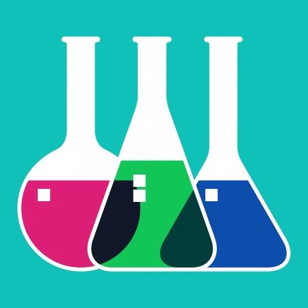Cristalería de laboratorio Ilustración de vector