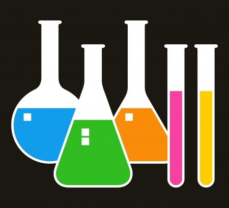 Laboratory glassware Stock Vector - 16708537