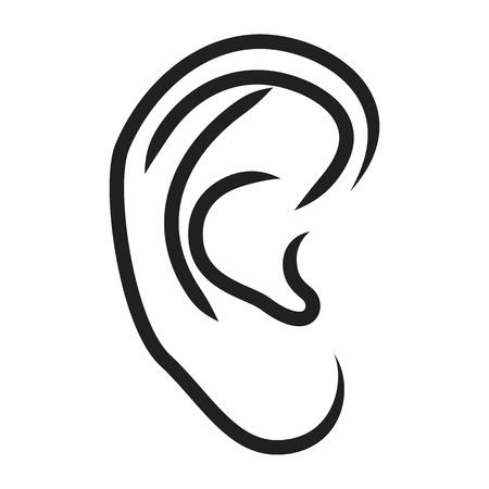 audition: Ludzkie ucho - ilustracji wektorowych