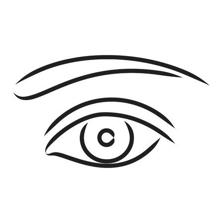 cartoon eyes: Human eye  Illustration