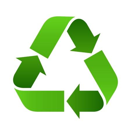 residuos organicos: Recicle la muestra - ilustración vectorial