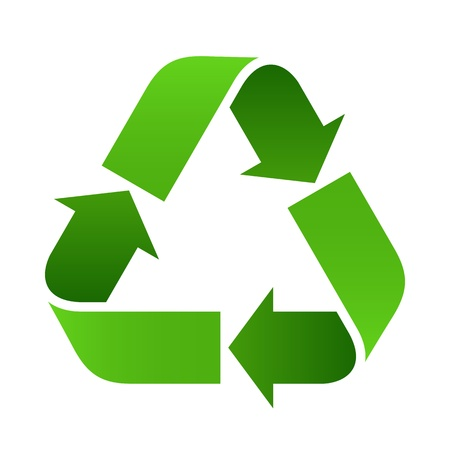 organic waste: Recycle sign - vector illustration