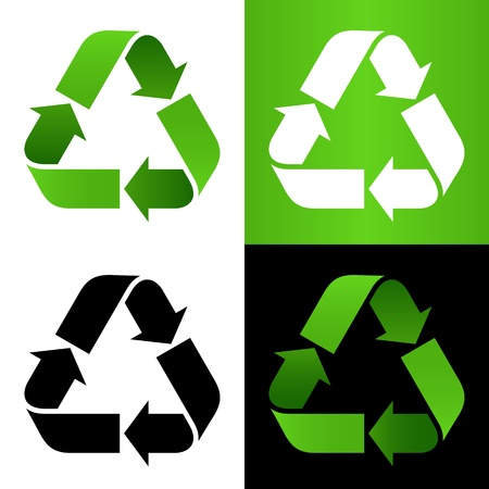 Set of recycle sign Illustration