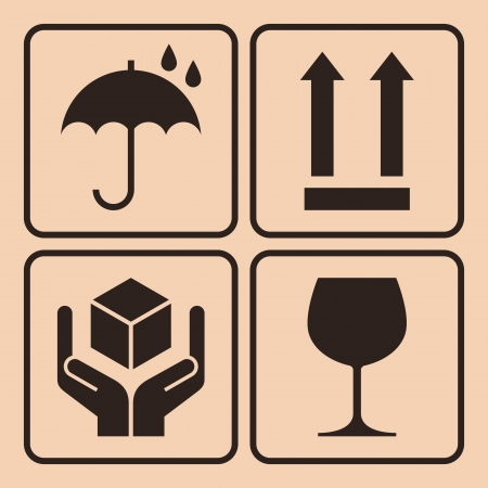 Verpakking symbolen