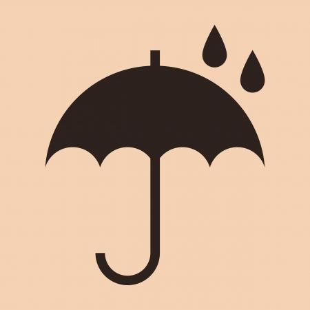 Umbrella - packing symbol Vector