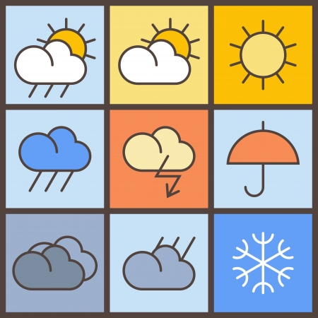 Colorful weather symbols Stock Vector - 18004765