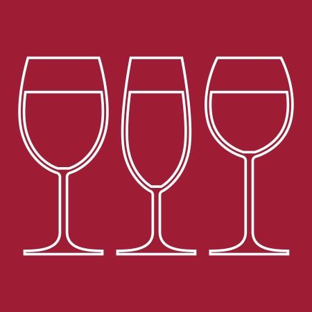 wine glasses: Wine Glasses  Illustration