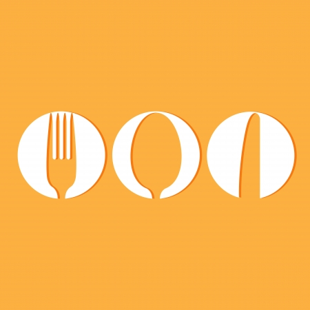 eating utensil: Restaurant menu design whit cutlery symbols