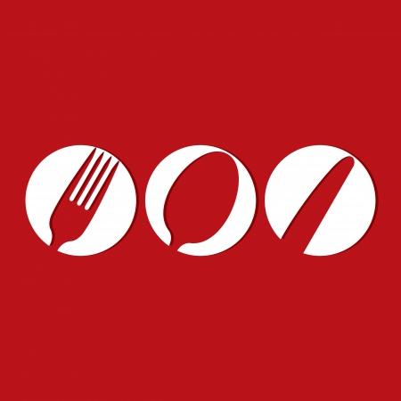 Diseño del menú del restaurante pizca símbolos cubiertos