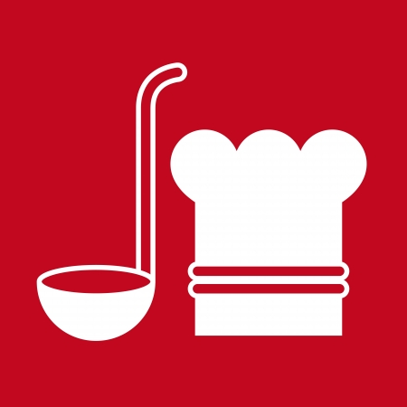 canteen: Chef hat and ladle  kitchen symbols