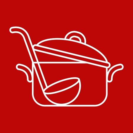 mestolo: Pan e mestolo - illustrazione