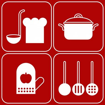 flatware: Vector kitchen symbols