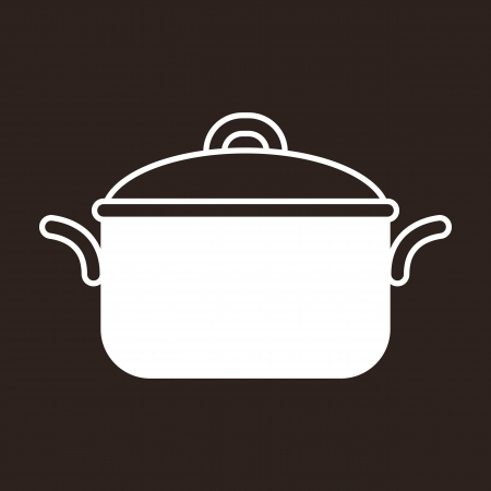 soup pot: Cooking pot symbol