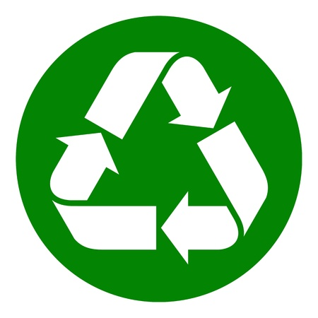 Recycled paper symbol Stock Vector - 18758552