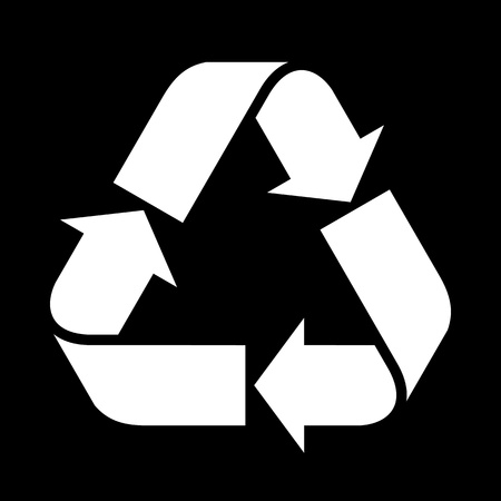 recycle paper: Recycled paper symbol Illustration
