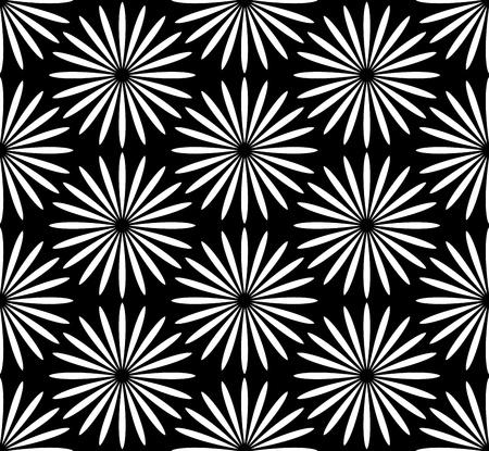 marguerite: Flower black and white pattern Illustration