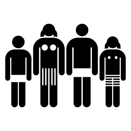 Illustration of a family Vector