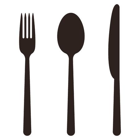 Mes, vork en lepel