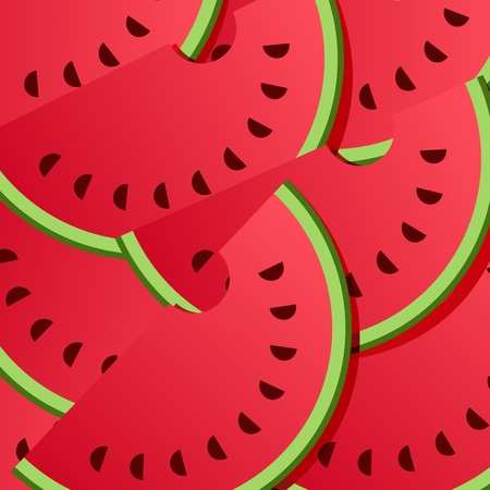 Background from watermelon  Vector illustration Vector