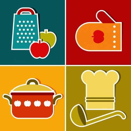 cooking icon: Cocina s�mbolos vectoriales Vectores