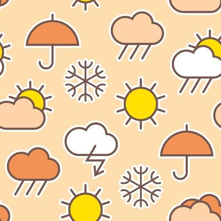 weather symbols: Seamless pattern of weather symbols Illustration