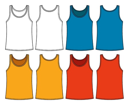 Singlets template - front and back Vector