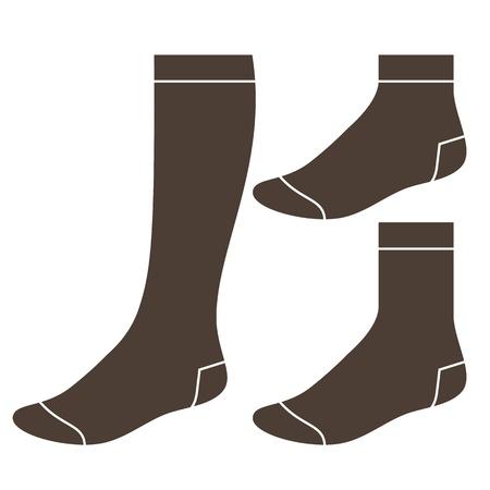 white socks: Set of socks  Illustration