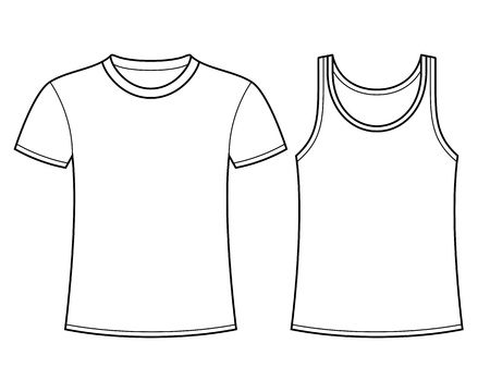 white singlet: T-shirt and Singlet template