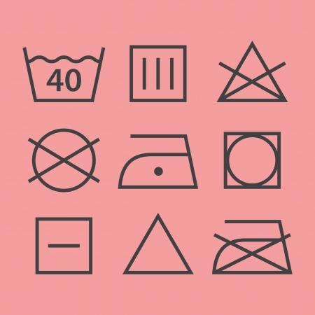 tumble drying: Washing symbols Illustration