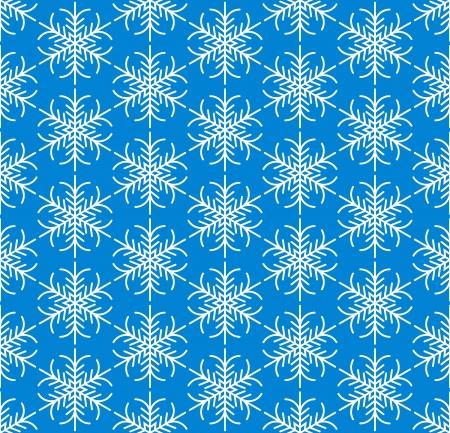 Blue seamless snowflake pattern Vector
