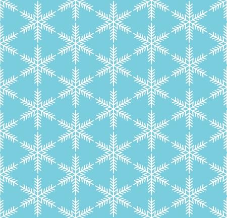 Blue seamless snowflake pattern Illustration