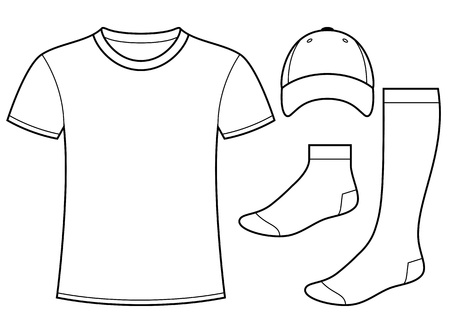 set of blank socks royalty free cliparts, vectors, and stock