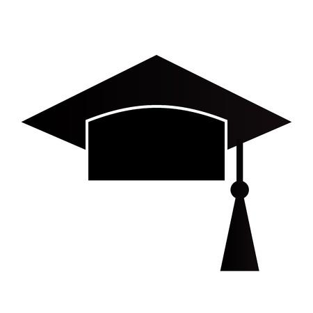Conseil de mortier ou Graduation Cap isolés sur un fond blanc