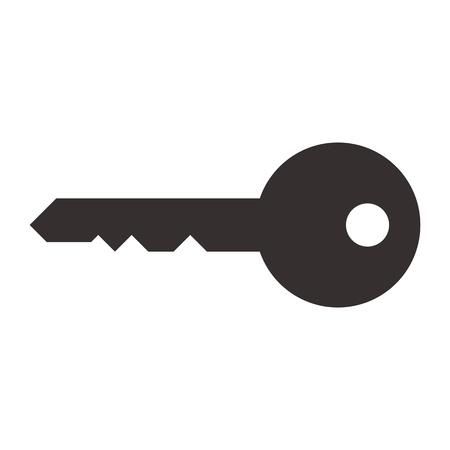 keys: Key symbol isolated on white background