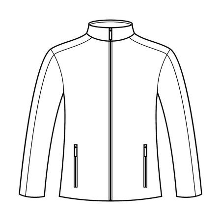 rain coat: Illustration of a sportswear isolated on white background
