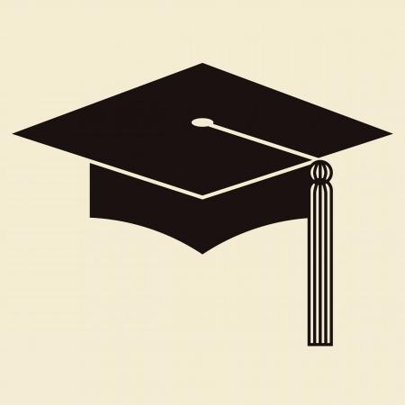 tassel: Mortar Board or Graduation Hat, Education symbol Illustration