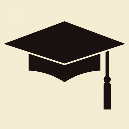 bachelor: Mortar Board or Graduation Cap, Education symbol