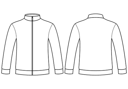 Blank sweatshirt template isolated on white background