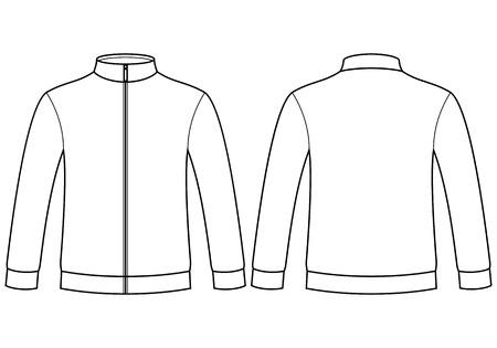 sudadera: Plantilla de la camiseta en blanco aislado en fondo blanco