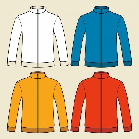 t shirt blouse: Colorful blank sweatshirts template