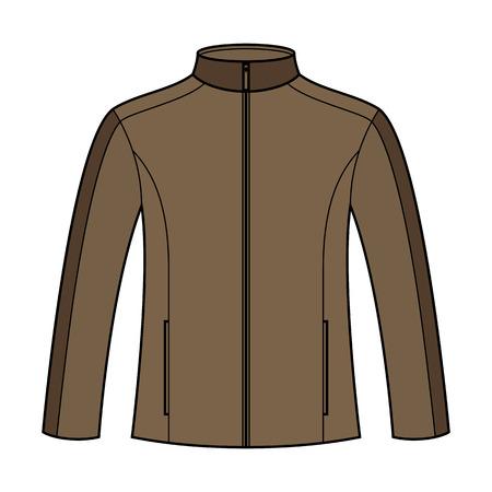 Jacket template isolated on white background Illustration