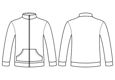 sweatshirt: Blank sweatshirt template isolated on white background