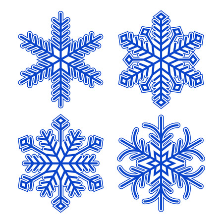 Snowflakes  isolated on white background Stock Vector - 23052252