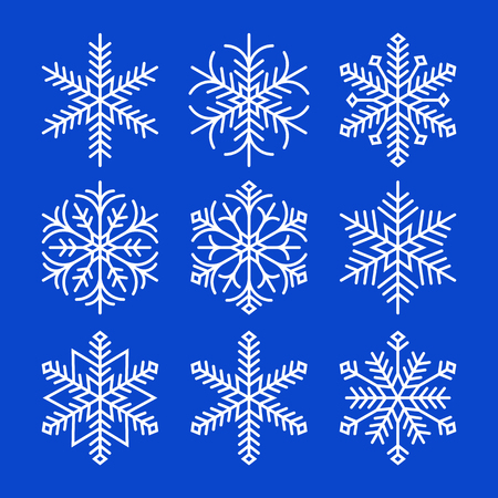 Snowflakes on blue background Stock Vector - 23052249
