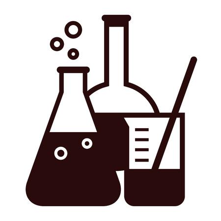 laboratory glass: Laboratory glassware isolated on white background Illustration