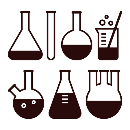 medical laboratory: Laboratory equipment isolated on white background