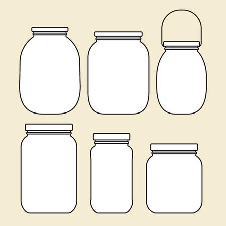 unlabeled: Set of jars template